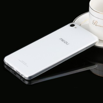 Силиконовый глянцевый транспарентный чехол для Meizu U10