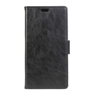 Винтажный чехол портмоне подставка на силиконовой основе на магнитной защелке для Meizu U10 Черный