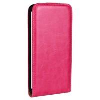 Чехол вертикальная книжка на пластиковой основе на магнитной защелке для HTC One (M7) Dual SIM  Пурпурный