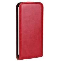 Чехол вертикальная книжка на пластиковой основе на магнитной защелке для HTC One (M7) Dual SIM  Красный