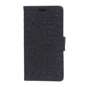 Чехол портмоне подставка текстура Узоры на силиконовой основе на магнитной защелке для HTC Desire 526
