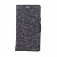 Чехол портмоне подставка на силиконовой основе с тканевым покрытием на магнитной защелке для HTC Desire 526