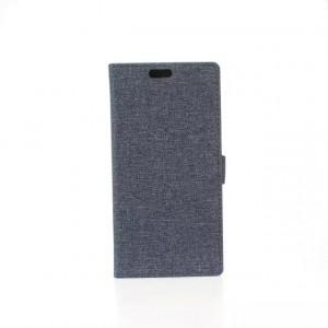 Чехол портмоне подставка на пластиковой основе с тканевым покрытием на магнитной защелке для HTC Desire 820