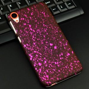 Пластиковый непрозрачный матовый чехол с голографическим принтом Звезды для HTC Desire 820