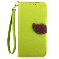 Чехол портмоне подставка на силиконовой основе на дизайнерской магнитной защелке для HTC Desire 820  Зеленый