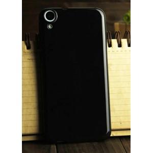 Силиконовый глянцевый непрозрачный чехол для HTC Desire 820 Черный