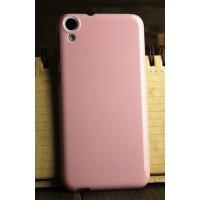 Силиконовый глянцевый непрозрачный чехол для HTC Desire 820 Розовый