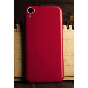 Силиконовый глянцевый непрозрачный чехол для HTC Desire 820