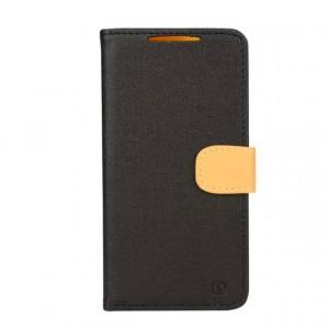 Чехол портмоне подставка на силиконовой основе на магнитной защелке для HTC Desire 820 Черный