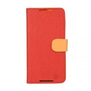 Чехол портмоне подставка на силиконовой основе на магнитной защелке для HTC Desire 820 Красный