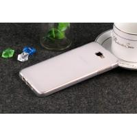 Силиконовый матовый полупрозрачный чехол для Samsung Galaxy J5 Prime  Белый