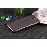 Силиконовый матовый полупрозрачный чехол для Samsung Galaxy J5 Prime  Серый