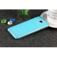 Силиконовый матовый полупрозрачный чехол для Samsung Galaxy J5 Prime  Голубой