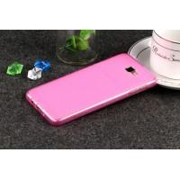 Силиконовый матовый полупрозрачный чехол для Samsung Galaxy J5 Prime  Розовый