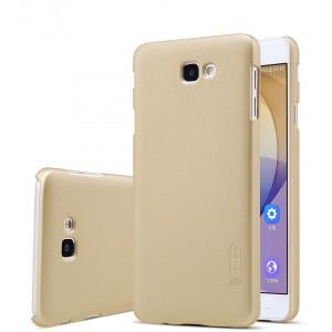 Пластиковый непрозрачный матовый нескользящий премиум чехол для Samsung Galaxy J5 Prime