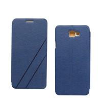 Чехол горизонтальная книжка подставка текстура Линии на пластиковой основе для Samsung Galaxy J5 Prime  Синий