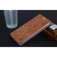 Винтажный чехол горизонтальная книжка подставка на пластиковой основе с отсеком для карт на присосках для ZUK Z2