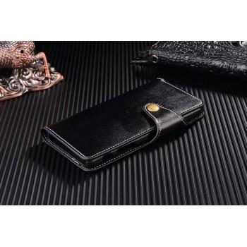 Винтажный чехол портмоне на пластиковой основе на дизайнерской магнитной защелке для Sony Xperia X Performance