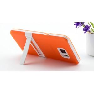 Двухкомпонентный силиконовый матовый полупрозрачный чехол с поликарбонатным бампером и встроенной ножкой-подставкой для Samsung Galaxy Note 5
