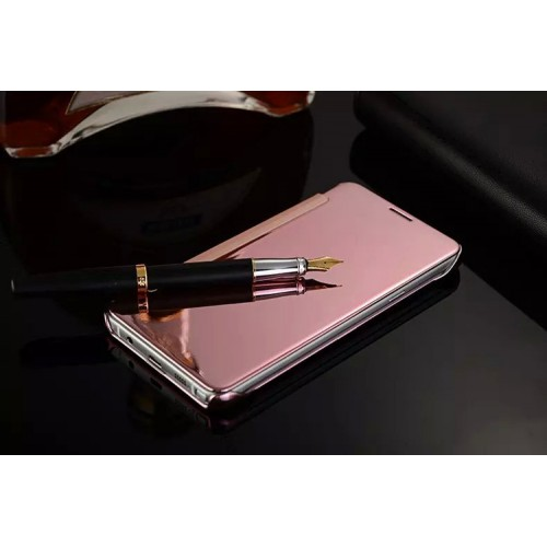 Пластиковый непрозрачный матовый металлик чехол с полупрозрачной крышкой с зеркальным покрытием для Samsung Galaxy Note 5