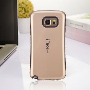Силиконовый глянцевый непрозрачный чехол с нескользящими гранями для Samsung Galaxy Note 5