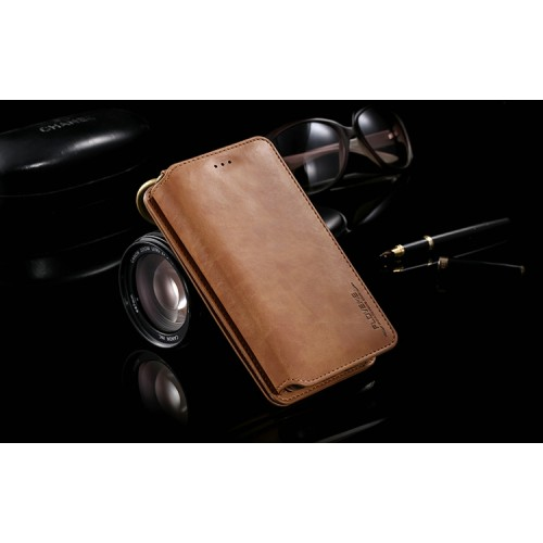 Винтажный кожаный чехол портмоне подставка на силиконовой основе для Samsung Galaxy Note 5