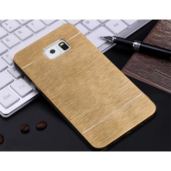 Пластиковый непрозрачный матовый металлик чехол для Samsung Galaxy Note 5
