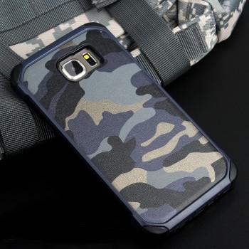 Противоударный двухкомпонентный силиконовый матовый непрозрачный чехол с поликарбонатными вставками для Samsung Galaxy Note 5