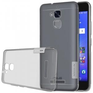 Силиконовый матовый полупрозрачный чехол с улучшенной защитой элементов корпуса (заглушки) для Asus ZenFone 3 Max  Серый
