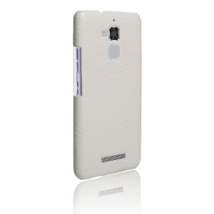 Чехол накладка текстурная отделка Кожа для Asus ZenFone 3 Max  Белый