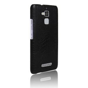 Чехол накладка текстурная отделка Кожа для Asus ZenFone 3 Max  Черный