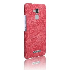 Чехол накладка текстурная отделка Кожа для Asus ZenFone 3 Max  Розовый