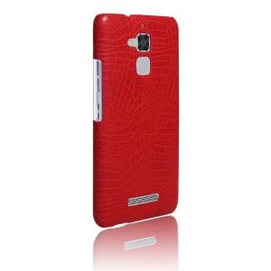 Чехол накладка текстурная отделка Кожа для Asus ZenFone 3 Max  Красный