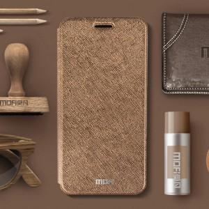 Чехол горизонтальная книжка подставка текстура Золото на силиконовой основе для Xiaomi RedMi 4 Pro
