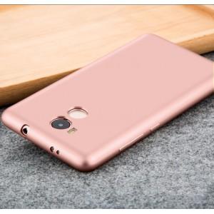 Силиконовый матовый непрозрачный чехол для Xiaomi RedMi 4 Pro Розовый