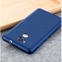 Силиконовый матовый непрозрачный чехол для Xiaomi RedMi 4 Pro  Синий