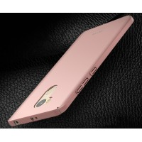 Пластиковый непрозрачный матовый чехол для Xiaomi RedMi 4 Pro  Розовый
