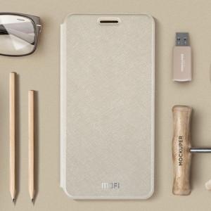 Чехол горизонтальная книжка подставка текстура Линии на силиконовой основе для Xiaomi RedMi 4 Бежевый