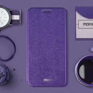 Чехол горизонтальная книжка подставка текстура Линии на силиконовой основе для Xiaomi RedMi 4 Фиолетовый