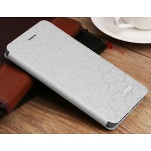 Чехол горизонтальная книжка подставка текстура Соты на силиконовой основе для Xiaomi RedMi 4  Белый