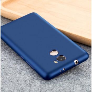 Силиконовый матовый непрозрачный чехол для Xiaomi RedMi 4  Синий