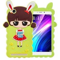 Силиконовый матовый непрозрачный дизайнерский фигурный чехол для Xiaomi RedMi 4A  Зеленый