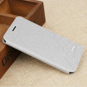 Чехол горизонтальная книжка подставка текстура Соты на силиконовой основе для Xiaomi RedMi 4A  Белый