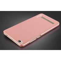 Пластиковый непрозрачный матовый чехол для Xiaomi RedMi 4A Розовый
