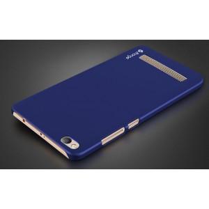 Пластиковый непрозрачный матовый чехол для Xiaomi RedMi 4A Синий