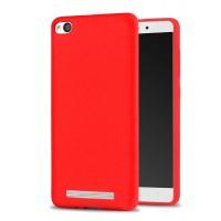 Силиконовый матовый непрозрачный чехол с нескользящим софт-тач покрытием для Xiaomi RedMi 4A  Красный
