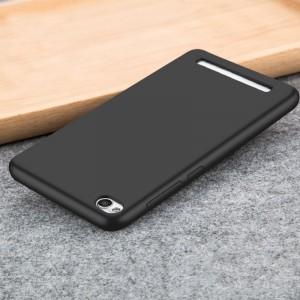 Силиконовый матовый непрозрачный чехол для Xiaomi RedMi 4A Черный