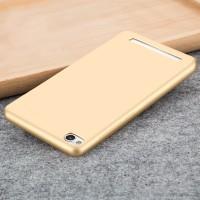 Силиконовый матовый непрозрачный чехол для Xiaomi RedMi 4A  Бежевый