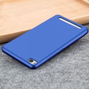 Силиконовый матовый непрозрачный чехол для Xiaomi RedMi 4A Синий