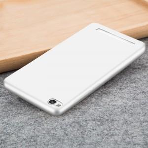 Силиконовый матовый непрозрачный чехол для Xiaomi RedMi 4A Белый